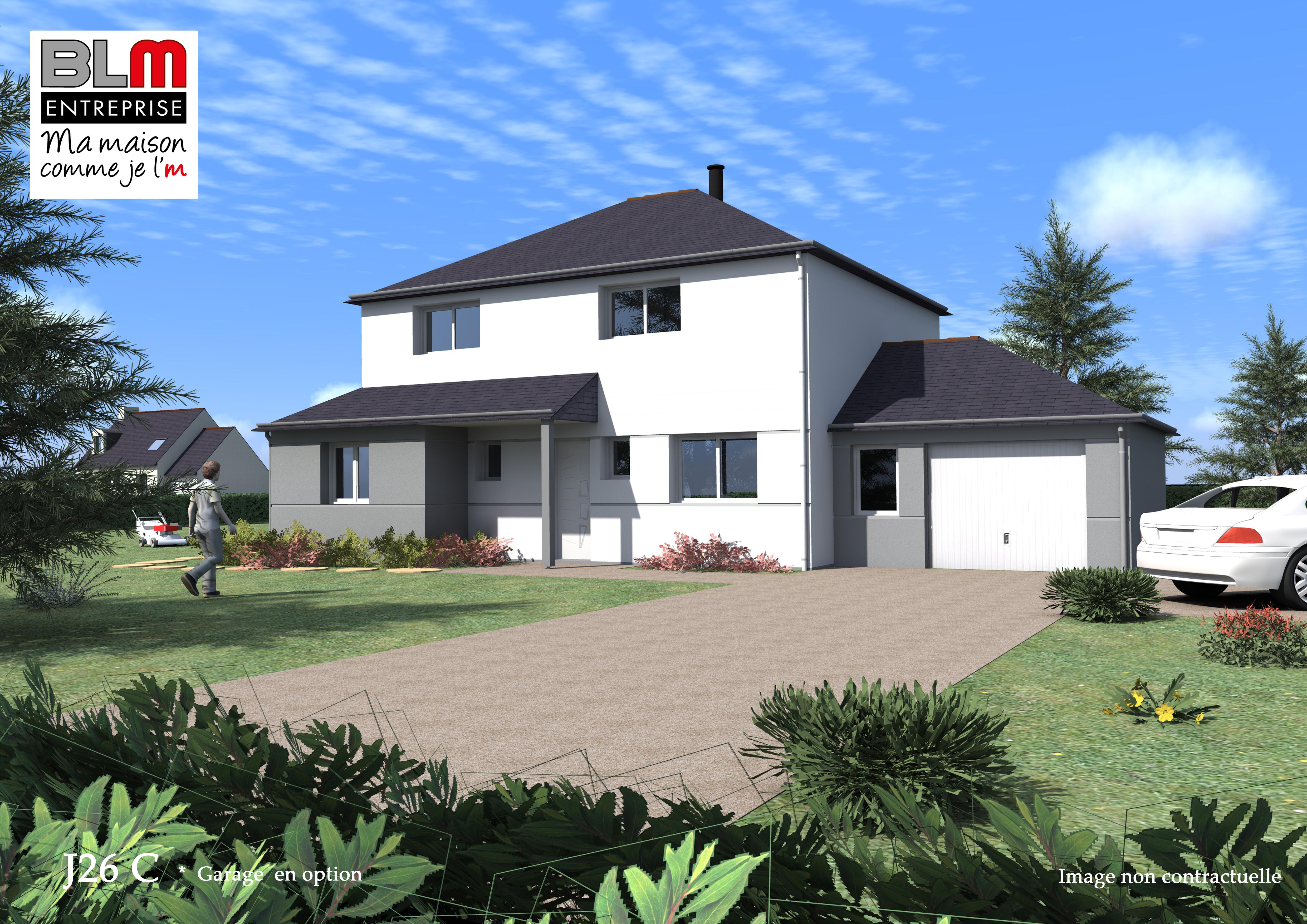 La fresnais construction maison terrain de 442 m2 blm 35 for Terrain construction maison