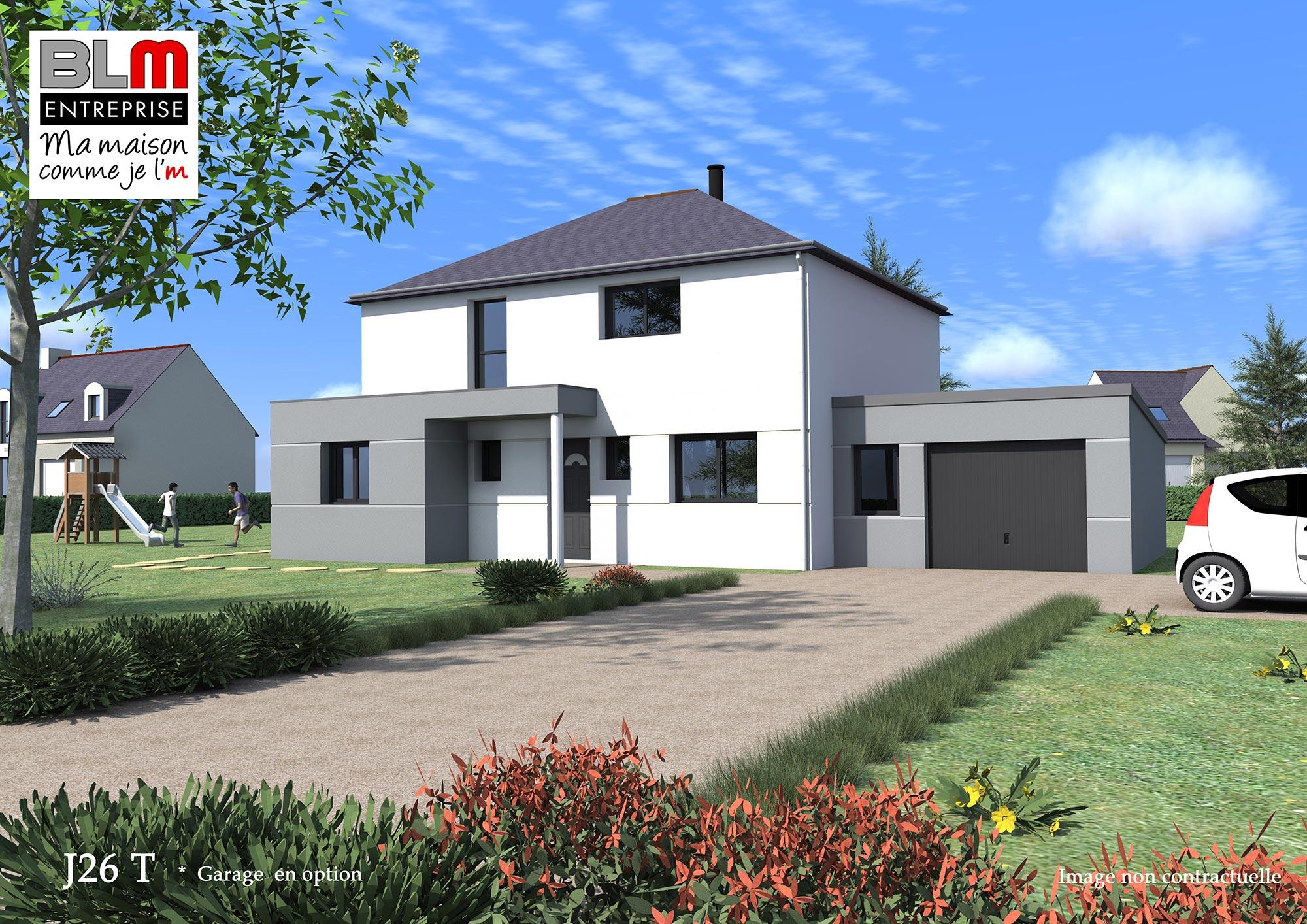 Construction maison terrain de 545 m2 martign for Frais de construction maison