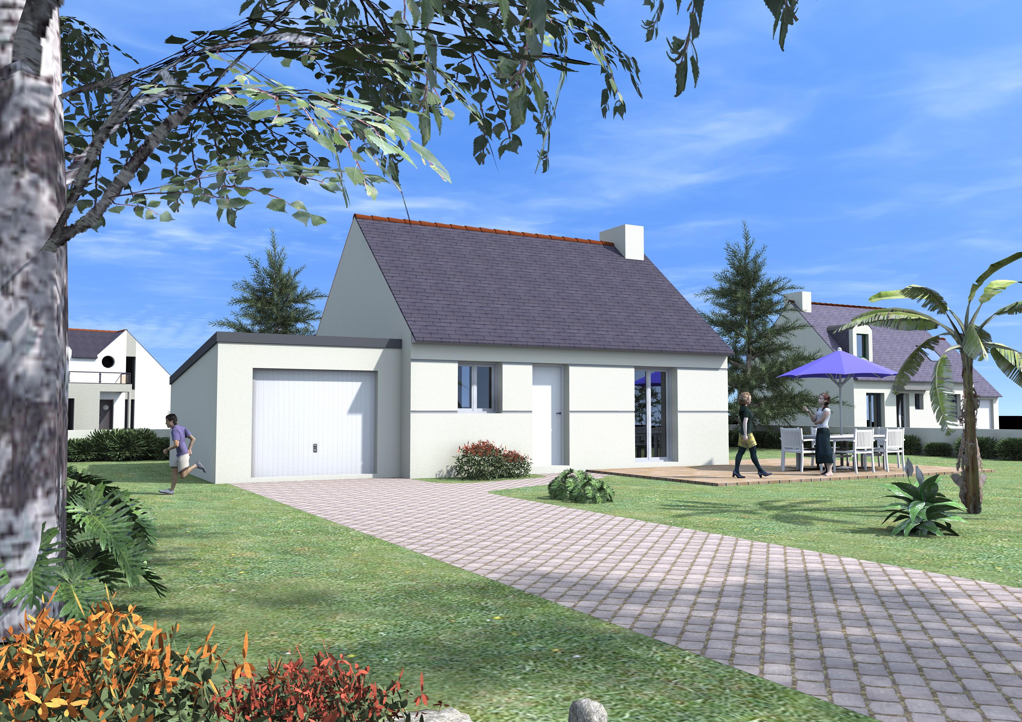 Sens de bretagne maison neuve terrain de 476 m2 blm 35 for Terrain maison neuve