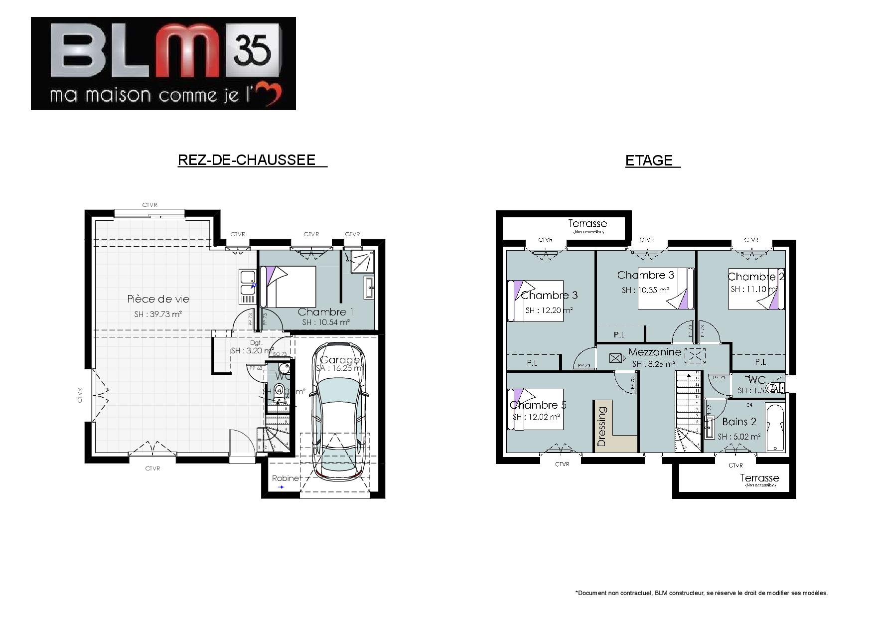 Plan Maison 5 Chambres Avec Etage Envie Du 2